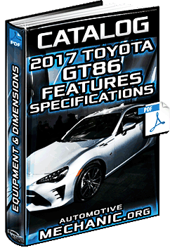 Specalog for 2017 Toyota GT86 - Features, Equipment, Specifications & Dimensions