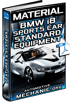 Material: Standard Equipment for BMW i8 Sports Car - Systems & Technology
