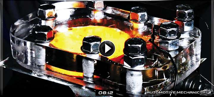 Video: Internal Combustion Process Engine with Glass Head – 4K Slow Motion