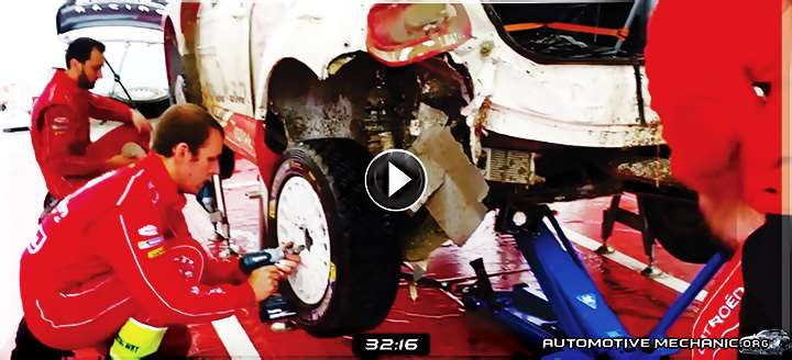 Video: Repair of the Damaged Citroen WRC's Rear Axle - 30 Min Service