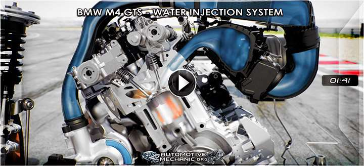 Video: Water Injection System for the BMW M4 GTS Car - 3D Animation